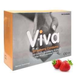 VIVA CONDOMS STRAWBERRY - BOX OF 144