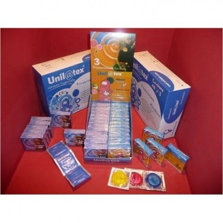 Condones Unilatex Multi Color - 144 unidades